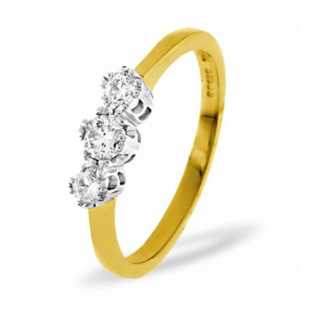 18K Gold 0.33ct H/si Diamond Ring, DR02-33HSY